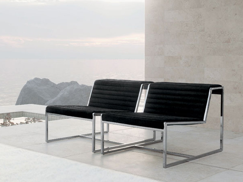Upholstered steel armchair ATLANTA | Armchair - ALIVAR