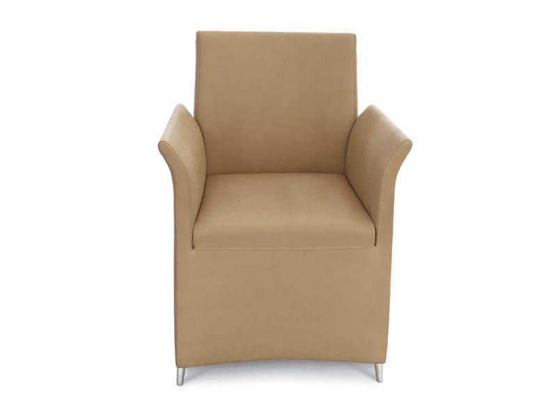 Polyurethane armchair with armrests DHALIA by ALIVAR