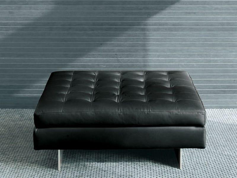 Upholstered polyurethane pouf HAERO | Pouf - ALIVAR