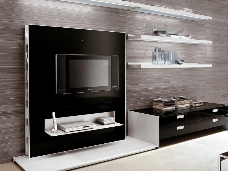 Parete attrezzata con porta tv frame alivar - Porta tv in cartongesso ...