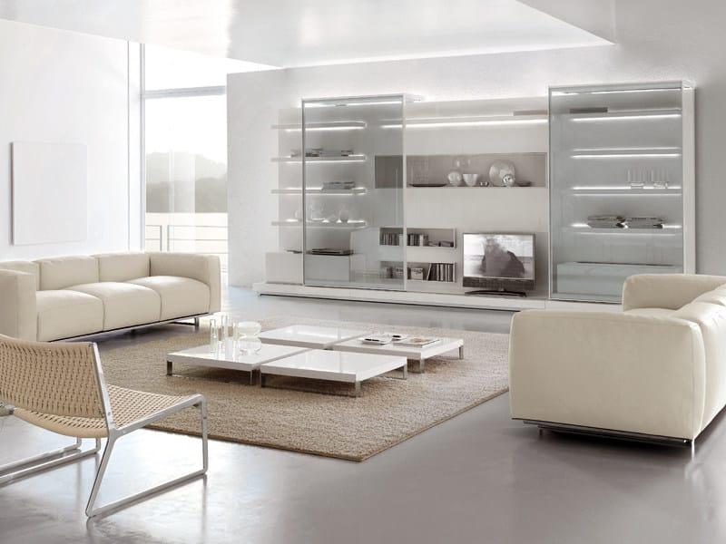Parete attrezzata con porta tv off shore alivar for Soggiorno stile moderno