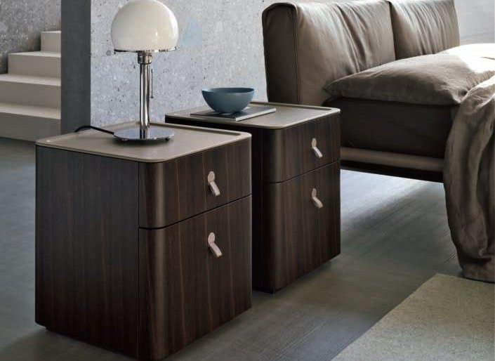 Wooden bedside table KUBE | Bedside table - ALIVAR