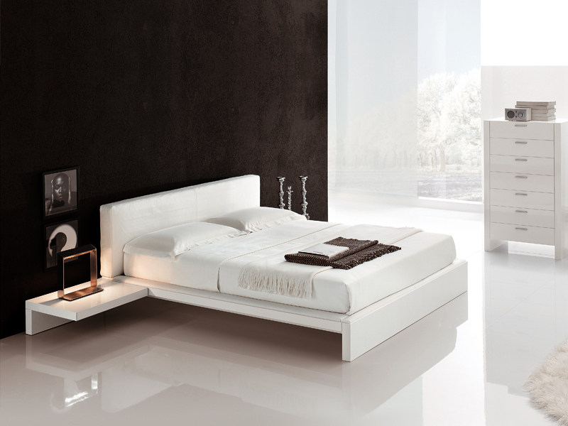 Double bed with upholstered headboard PLAZA - ALIVAR