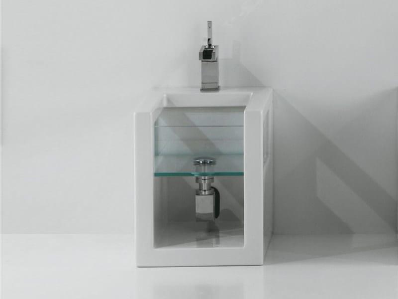 Ceramic and glass bidet GLASS | Bidet - GSG Ceramic Design
