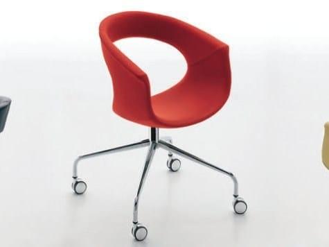 Swivel polyurethane chair VANITY | Swivel chair - ALIVAR
