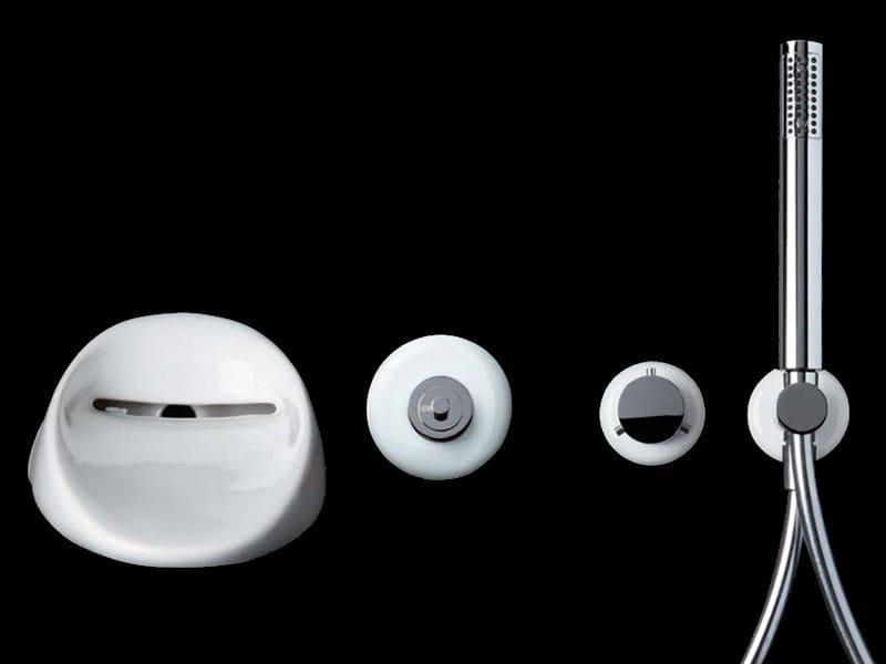 4 hole ceramic bathtub set with hand shower TOUCH | Bathtub set by GSG Ceramic Design