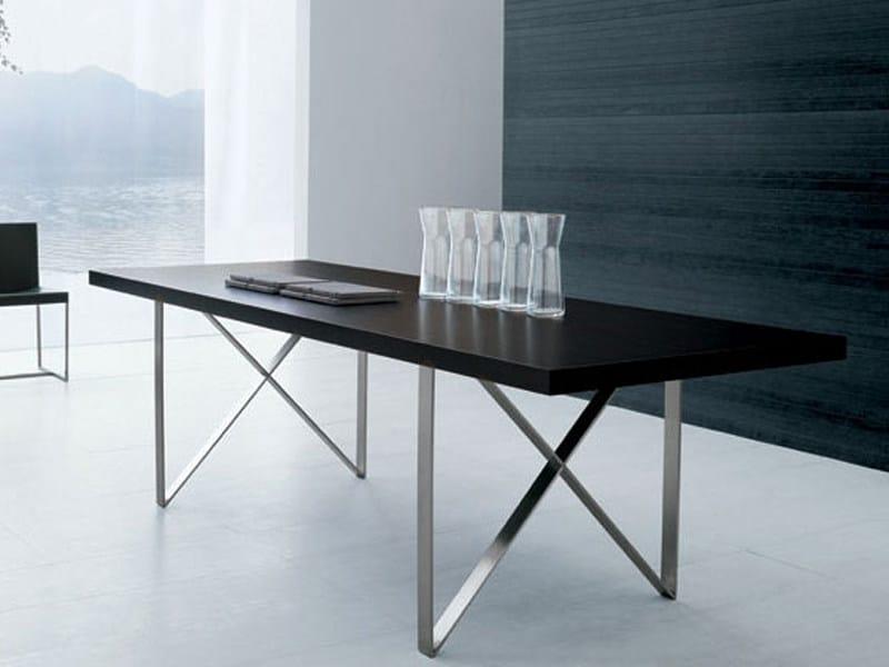 Rectangular steel and wood table XT - ALIVAR