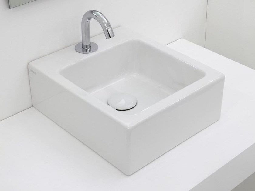 Countertop ceramic washbasin SQUARE | Washbasin - GSG Ceramic Design