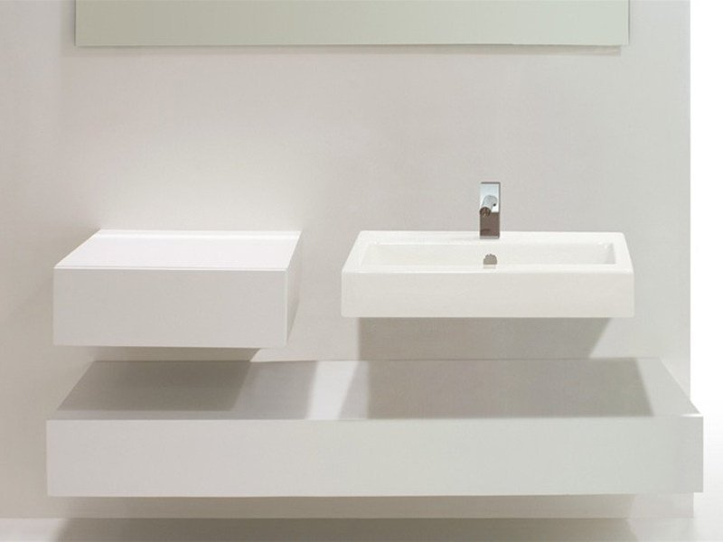 Wall-mounted ceramic washbasin QUAD | Washbasin - GSG Ceramic Design