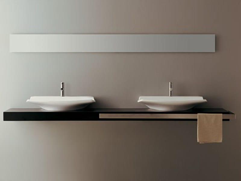 Piano lavabo in legno piano lavabo   gsg ceramic design