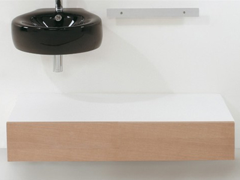 Suspended wooden bathroom cabinet with drawers Suspended bathroom cabinet - GSG Ceramic Design