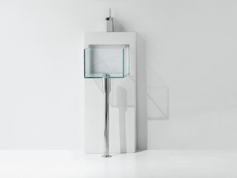 Square glass washbasin GLASS | Washbasin by GSG Ceramic Design