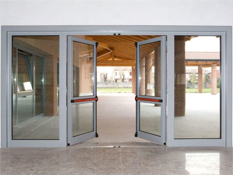finestra a taglio termico scorrevole in alluminio e legno finestra ... - Porte In Legno Di Design Di Alta Sicurezza