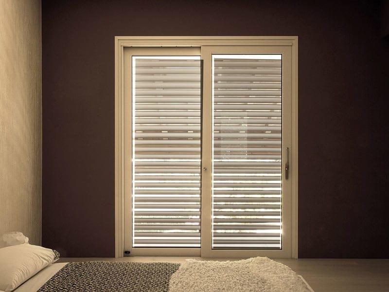 Finestra a taglio termico scorrevole in alluminio e legno - Finestre scorrevoli elettriche ...