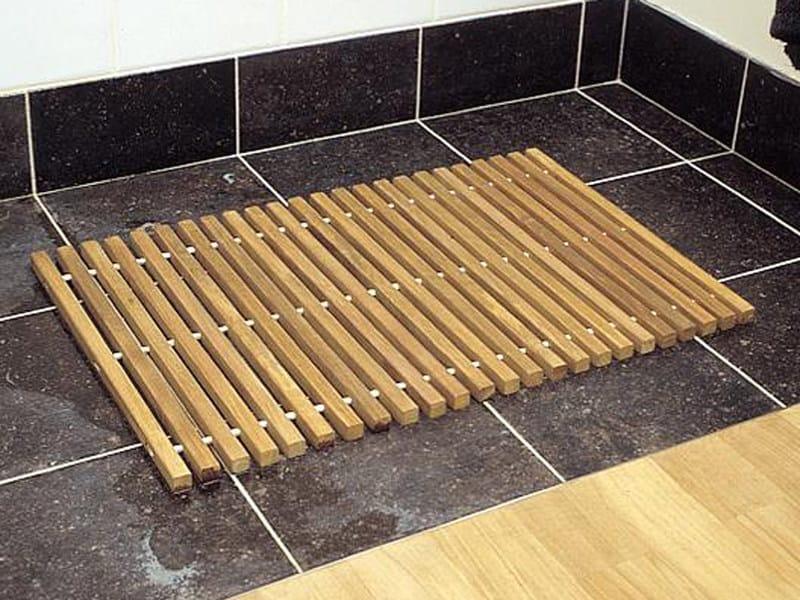 Alfombra rectangular de madera de ba o colecci n class x for Tapis salle de bain bois