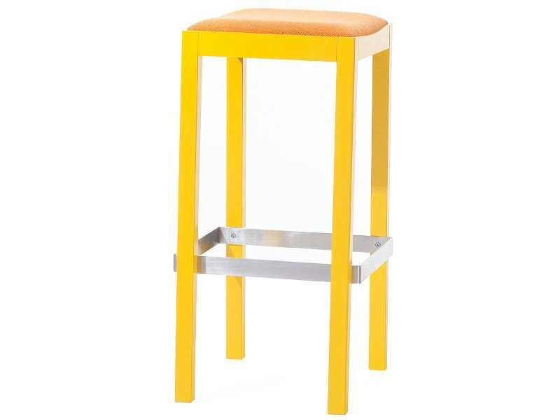 High wooden barstool COGNAC - TON