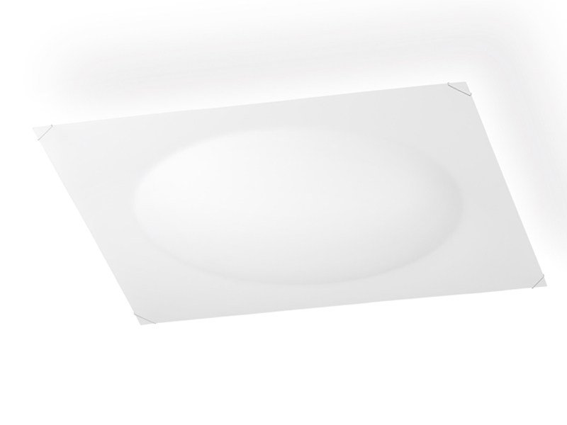 Glass ceiling lamp QUADRA ICE FLAT by Vibia