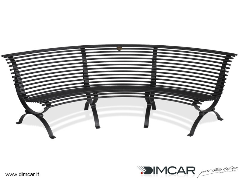 Panchina curva con seduta lato concavo panchina clematis for Dimcar arredo urbano
