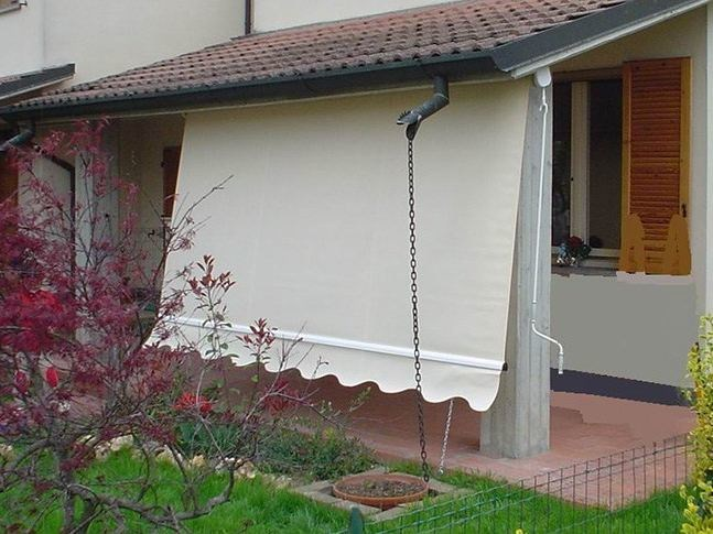 Tenda da sole a caduta cassonata con braccetti roma ke outdoor design - Tende da esterno a caduta ...
