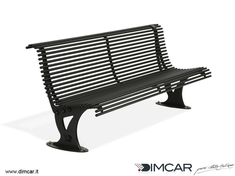 Contemporary style metal Bench with back Panchina Mira - DIMCAR