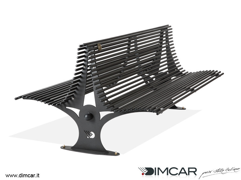 Contemporary style metal Bench with back Panchina Gabbiano - DIMCAR