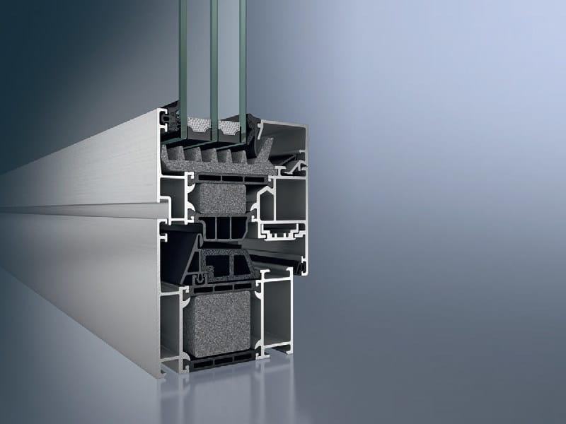 Aluminium pocket sliding window Schüco AWS 75.SI - SCHÜCO INTERNATIONAL ITALIA