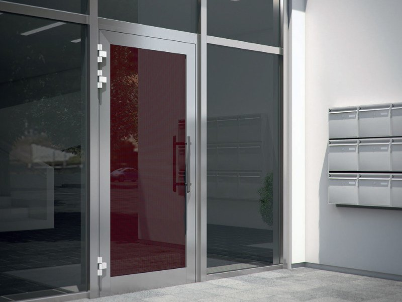 Energy-saving glass entry door Schüco ADS - SCHÜCO INTERNATIONAL ITALIA
