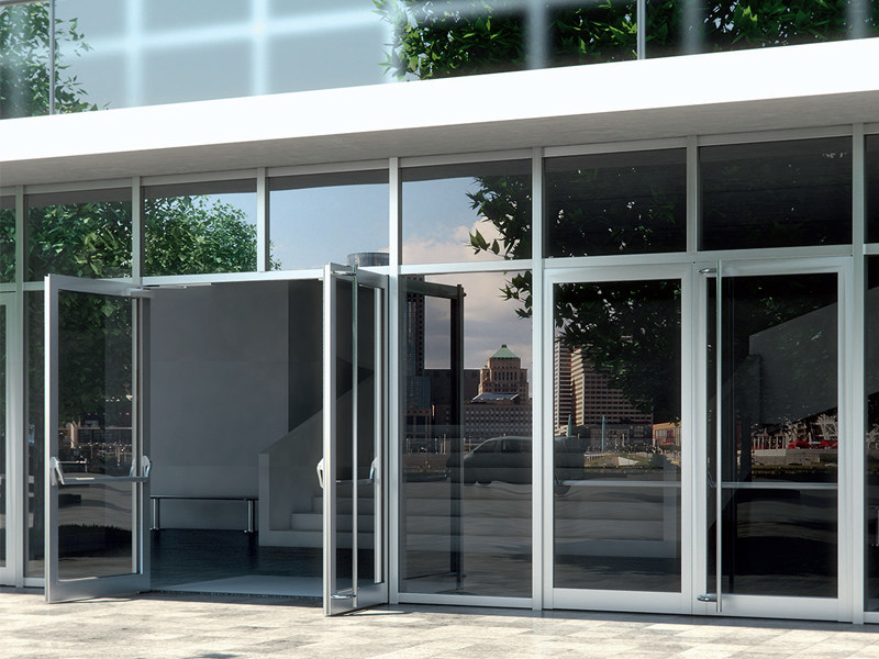 Aluminium patio door Schüco ADS HD by Schüco