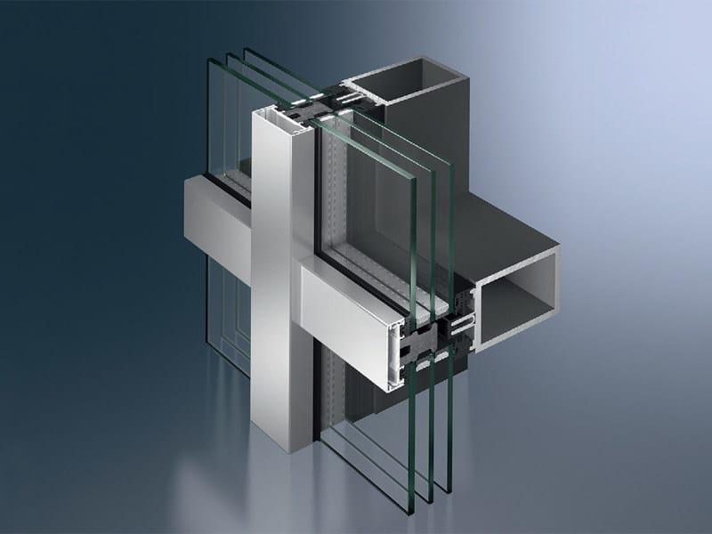 Continuous facade system Schüco AOC 50 (60) ST.SI - SCHÜCO INTERNATIONAL ITALIA