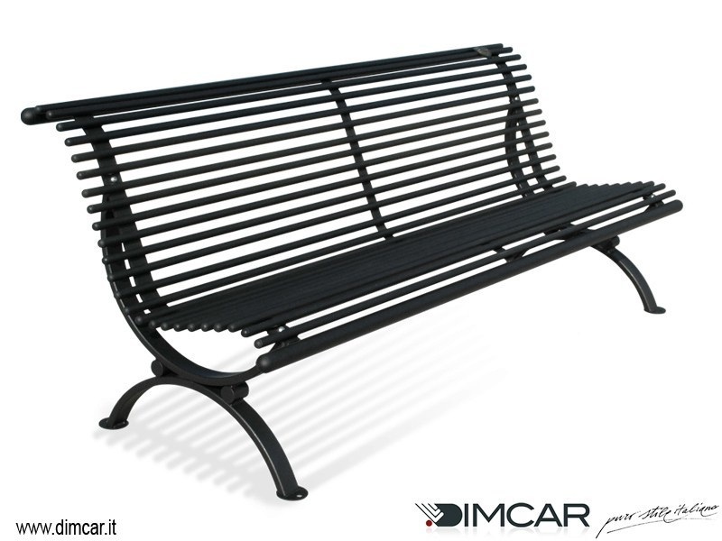 Classic style metal Bench with back Panchina Lory - DIMCAR