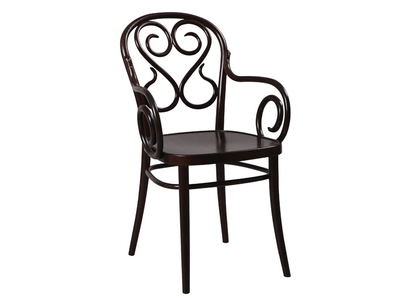 Wooden chair with armrests N° 4 | Chair with armrests - TON