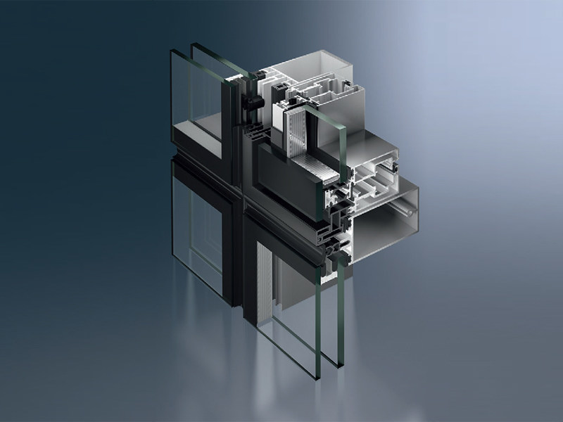 Finestra per facciate strutturali Schüco AWS 102 - SCHÜCO INTERNATIONAL ITALIA