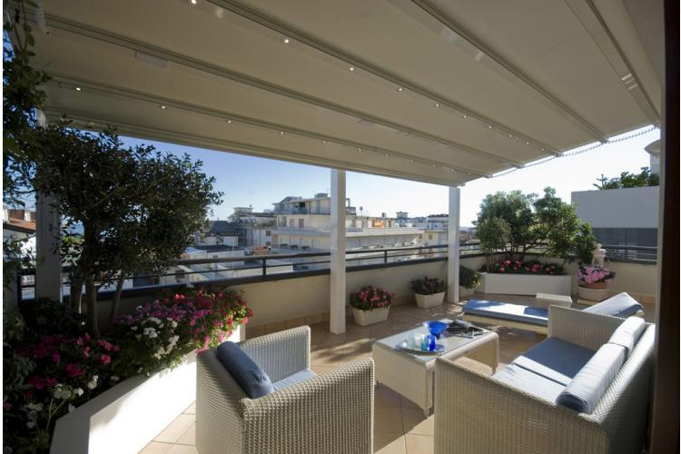 Pergolato in alluminio con copertura scorrevole a4 - Soluzioni per copertura terrazzi ...