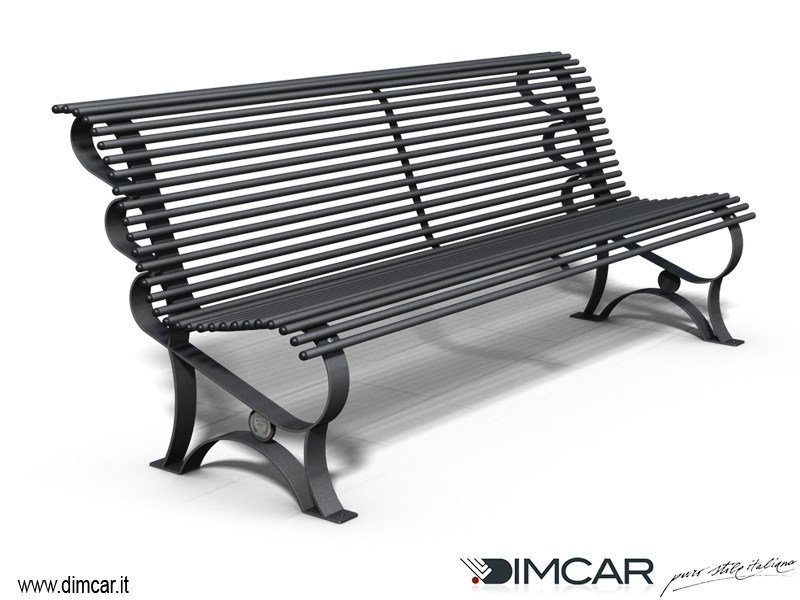 Classic style metal Bench with back Panchina Margherita - DIMCAR