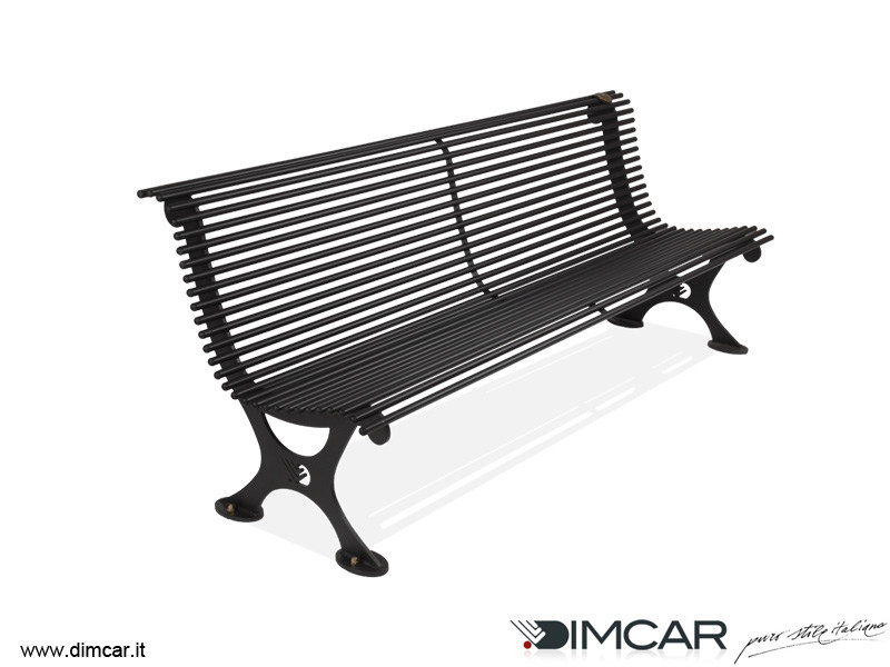 Classic style metal Bench with back Panchina Antibes by DIMCAR