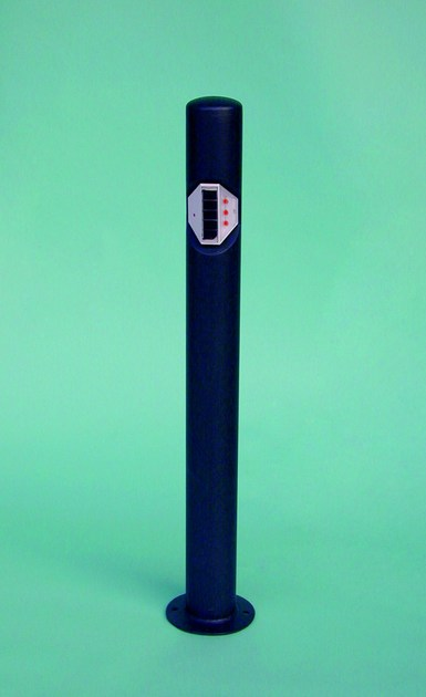 Fixed galvanized steel bollard LUMI 1000 - SMEC