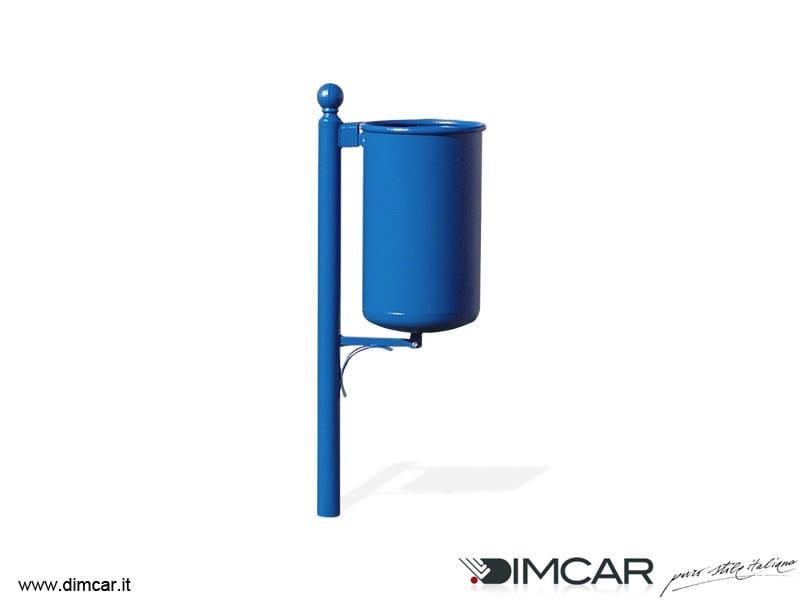 In-ground outdoor metal waste bin Cestino Portofino - DIMCAR