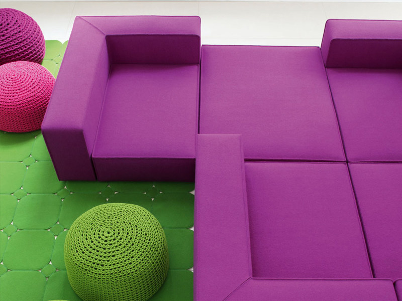 Modular sofa with removable cover ATOLLO MINI - Paola Lenti