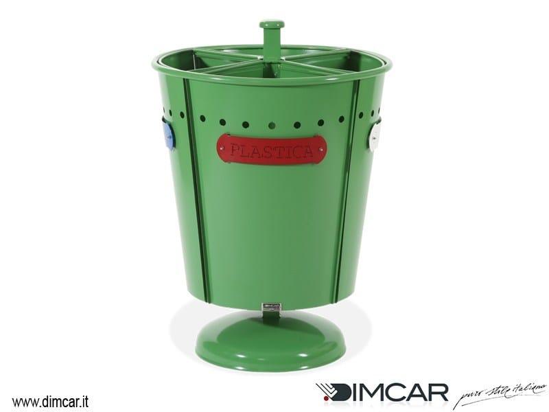 Outdoor metal waste bin for waste sorting Cestone Pirro by DIMCAR