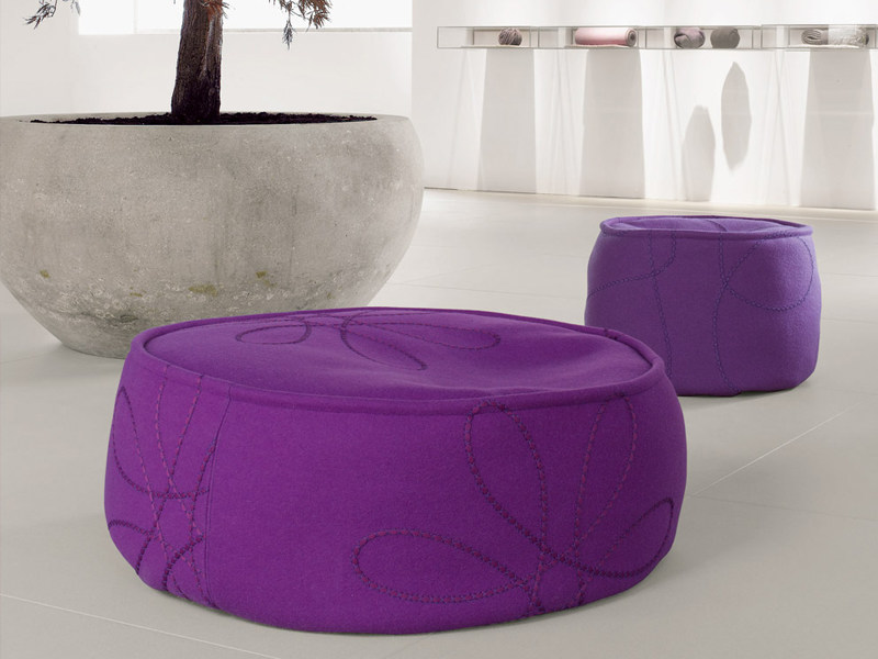 Upholstered pouf with removable lining FLOAT   Pouf - Paola Lenti