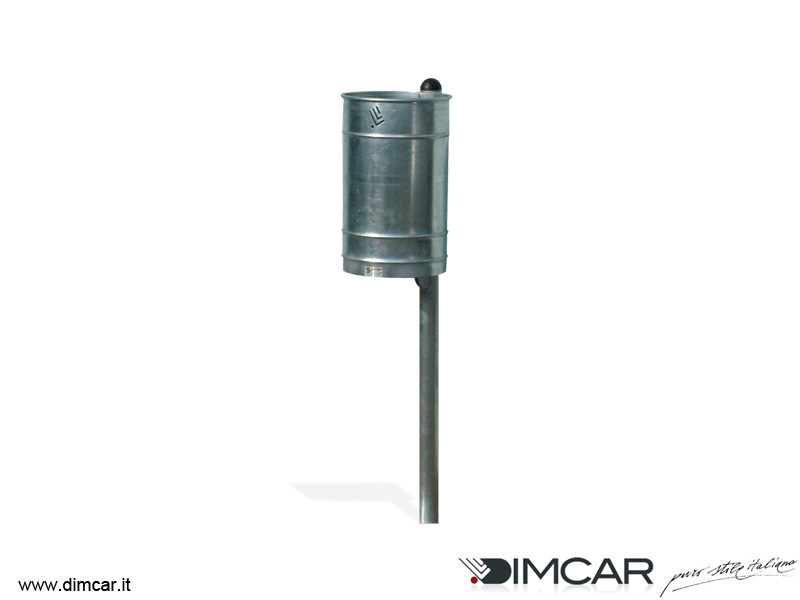 In ground outdoor metal waste bin cestino polis zincato by for Dimcar arredo urbano