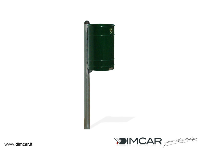 In-ground outdoor metal waste bin Cestino Polis con solo cesto verniciato - DIMCAR