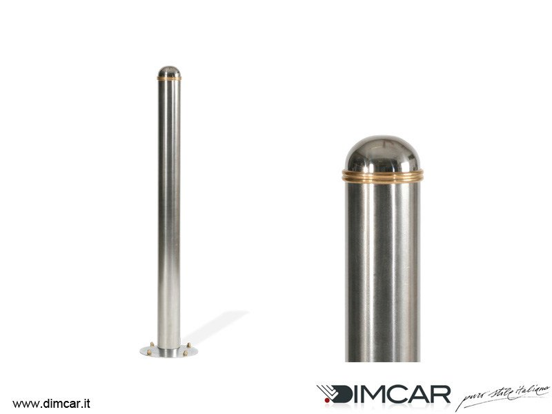 Stainless steel bollard with base plate Dissuasore Royal con piastra alla base - DIMCAR