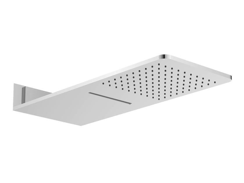 Wall-mounted chrome-plated steel rain shower AQUA SENSE | Wall-mounted overhead shower - Graff Europe West