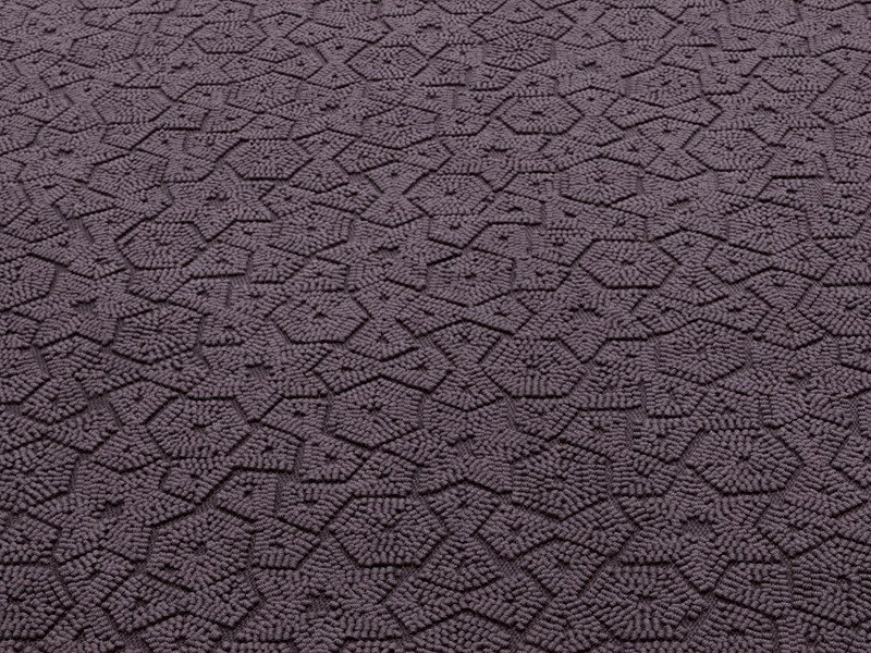 Solid-color wool rug with geometric shapes ASTER - Paola Lenti