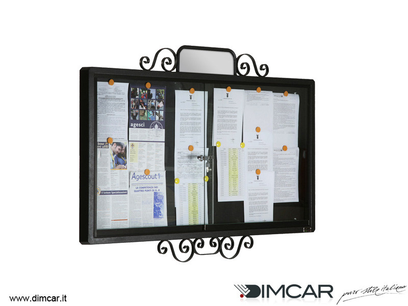 Wall-mounted galvanized steel notice board Bacheca Classic - DIMCAR