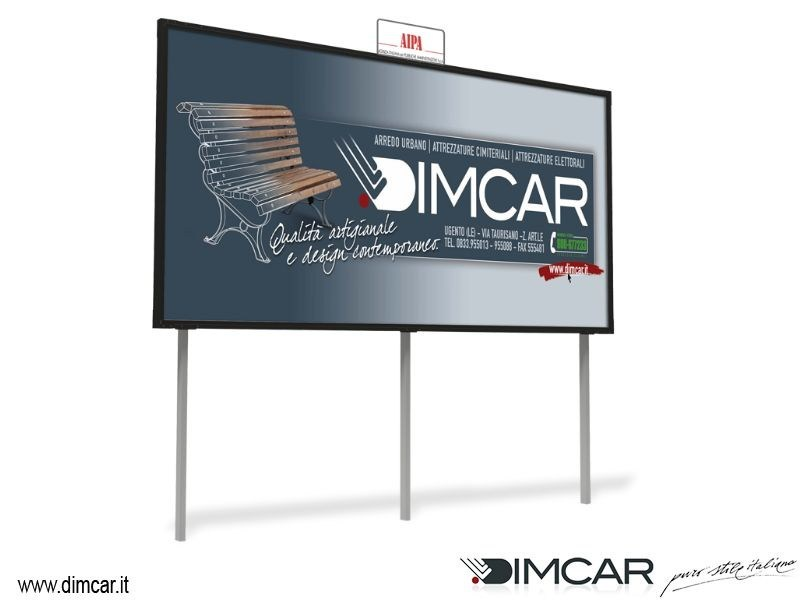 Display panel Tabellone Maxi 6x3 mono-facciale - DIMCAR