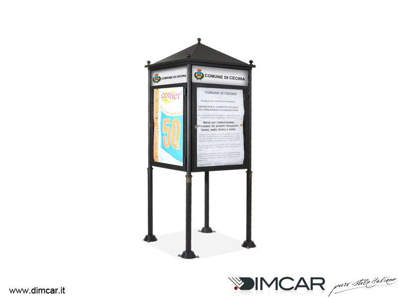 Galvanized steel advertising totem Totem Quadrato - DIMCAR