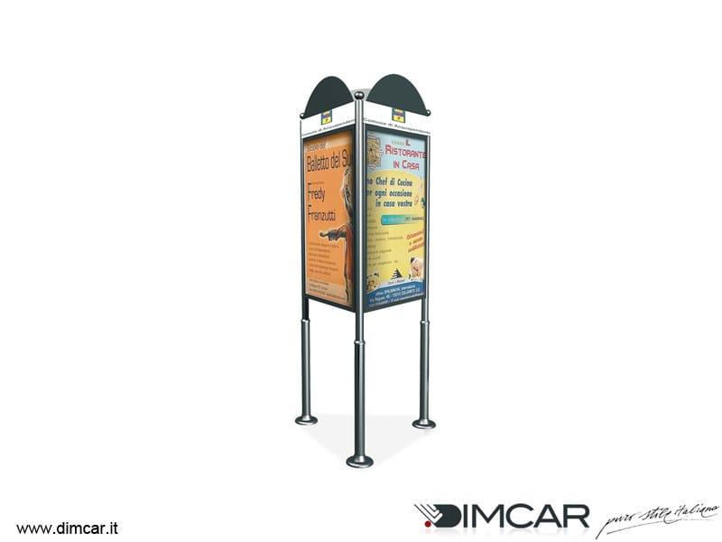 Galvanized steel advertising totem Totem Triangolare - DIMCAR