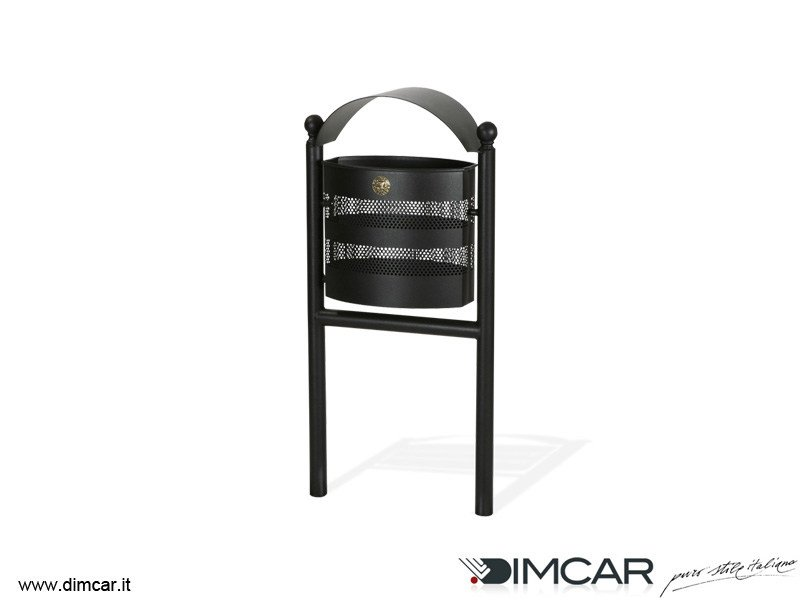 Outdoor metal waste bin Cestino Alghero by DIMCAR